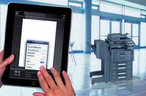 Dodatkową funkcjonalnością jest możliwość wydruku z i skanowania bezpośrednio na tablet czy smartfon.