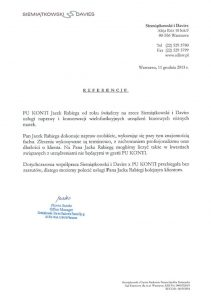 REFERENCJE Kancelaria Siemiątkowski & Davies