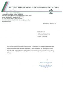 Referencje_POLITECHNIKA_WYDZIAŁ _STEROWANIA_I_ELEKTRONIKI