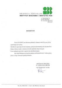 REFERENCJE_IBB Instytut Biochemii i Biofizyki PAN